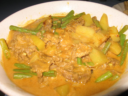 Beef curry – my mom's version