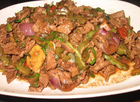 Beef with bitter gourd
