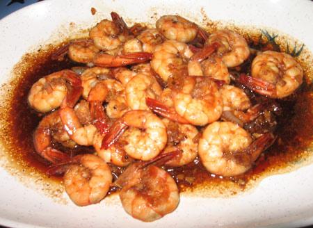 Garlic Shrimps Thai style