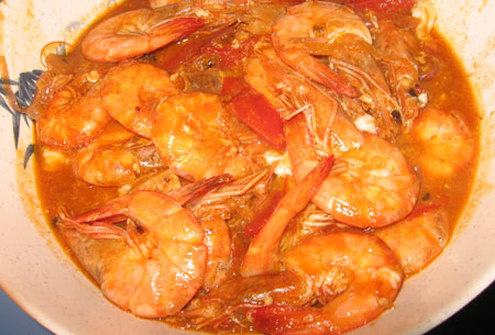 This is my Chili Prawns