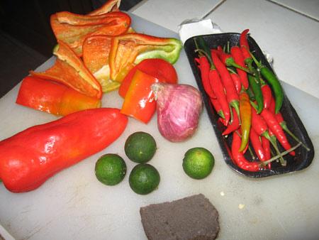 Sambal belacan is a super spicy dip