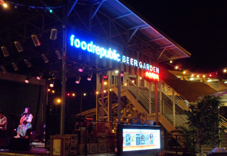 Singapore food court with live entertainments
