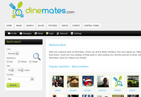 Finally my new project Dinemates is ready for beta testing