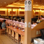 Kaiten moving sushi restaurant